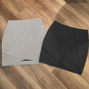 H&M Knit Miniskirts. Bundle of 2!